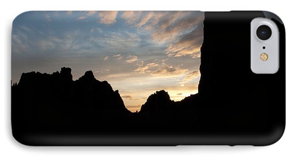 Sunset With Rugged Cliffs In Silhouette IPhone Case
