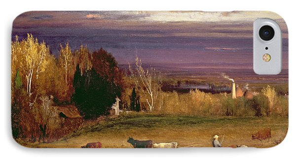 Sunshine After Storm Or Sunset Phone Case by George Snr Inness