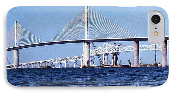 Sunshine Skyway Bridge II IPhone Case by Richard Rizzo
