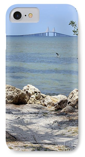 Sunshine Skyway From The Causeway IPhone Case by Carol Groenen