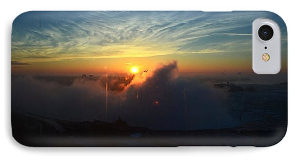 IPhone Case featuring the photograph Sunsrise At Niagara by Pravine Chester