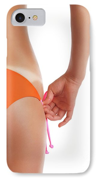 Suntanned Woman Showing Tan Lines IPhone Case by Oleksiy Maksymenko