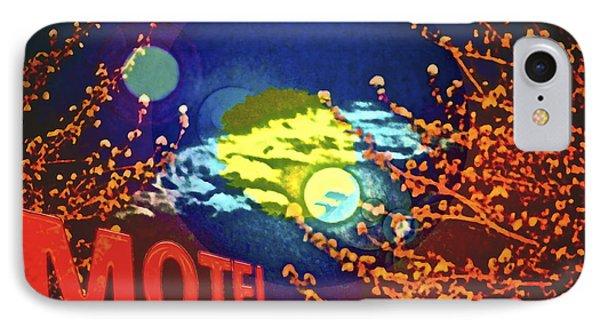 Super Moon Motel IPhone Case by Gwyn Newcombe