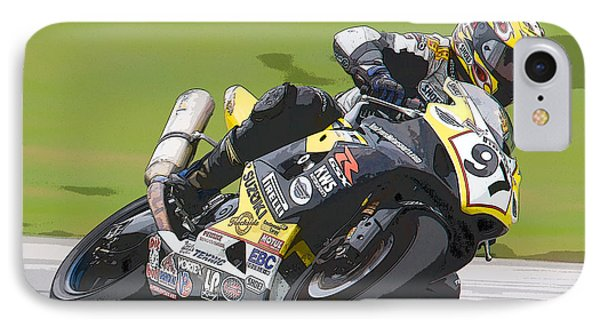 Superbike Racer II Phone Case by Clarence Holmes