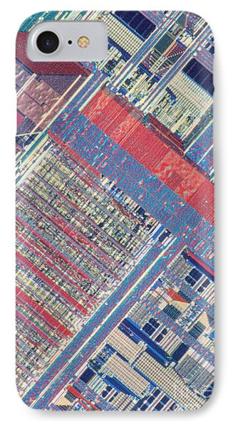 Surface Of Integrated Chip Phone Case by Michael W. Davidson