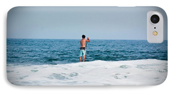 IPhone Case featuring the photograph Surfer Waiting For Next Wave by Ann Murphy