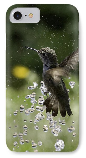 Surfing The Drops Of Water IPhone Case by Betty Depee