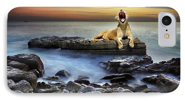 Surreal Lioness Phone Case by Carlos Caetano