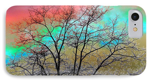 Surreal Winter Sky Phone Case by Will Borden
