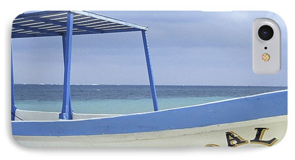 IPhone Case featuring the photograph Surrealist Fishing Boat Riviera Maya Mexico by John  Mitchell
