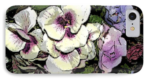 IPhone Case featuring the photograph Surrounding Pansies by Pamela Hyde Wilson