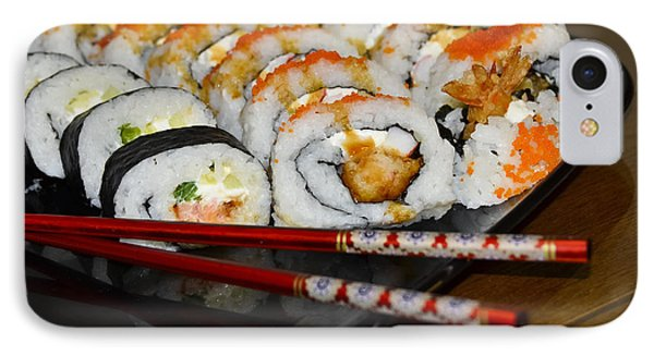 Sushi And Chopsticks Phone Case by Carolyn Marshall