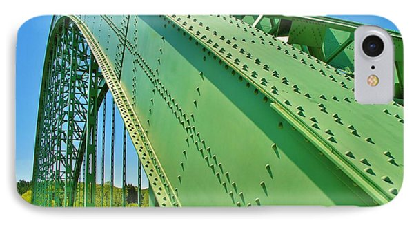 IPhone Case featuring the photograph Suspension Bridge by Sherman Perry