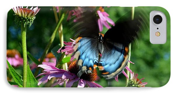 Swallowtail In Motion IPhone Case by Sue Stefanowicz