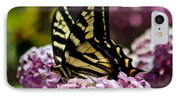 Swallowtail On Lilac 2 Phone Case by Mitch Shindelbower