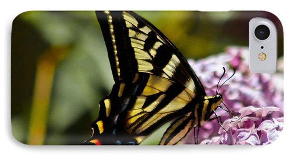 Swallowtail On Lilac Phone Case by Mitch Shindelbower