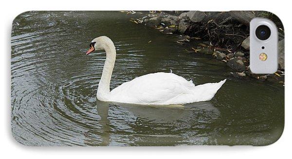 Swan Along The Shoreline Phone Case by Corinne Elizabeth Cowherd