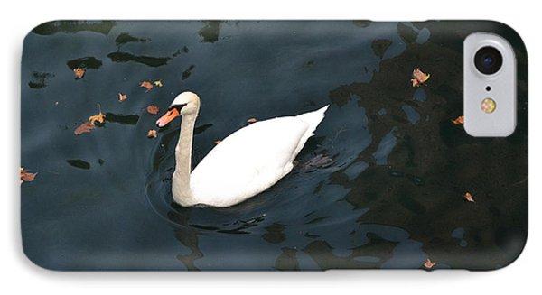 Swan In Autumn IPhone Case