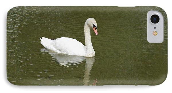 Swan Looking At Reflection Phone Case by Corinne Elizabeth Cowherd