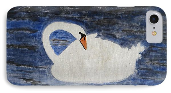IPhone Case featuring the painting Swan  by Sonali Gangane