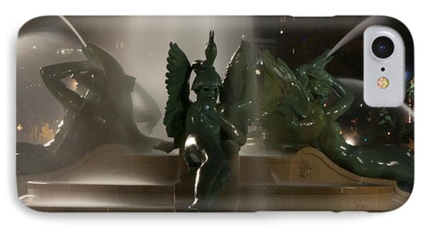 Swann Fountain At Night Phone Case by Bill Cannon
