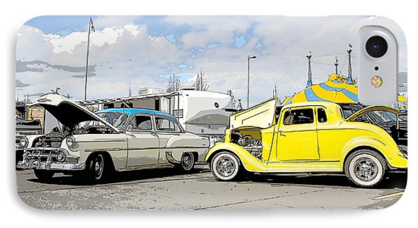 Swap Meet Plymouth And Chevy  Phone Case by Steve McKinzie