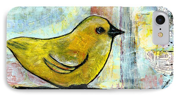 Sweet Green Bird Phone Case by Blenda Studio