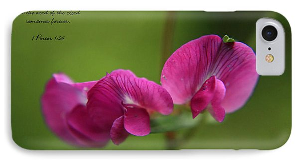 Sweet Pea Flower IPhone Case by Tyra  OBryant