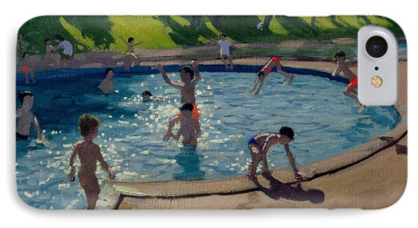 Swimming Pool IPhone Case by Andrew Macara