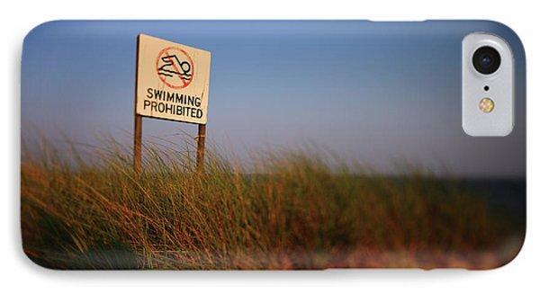 Swimming Prohibited Phone Case by Rick Berk
