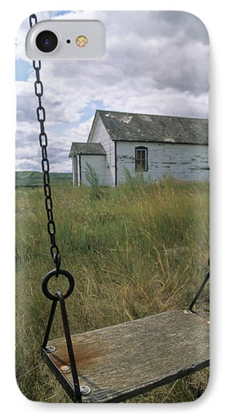 Swing At Old School House, Quappelle Phone Case by Dave Reede