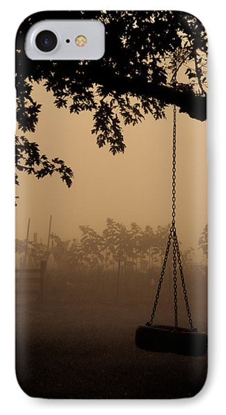 IPhone Case featuring the photograph Swing In The Fog by Cheryl Baxter