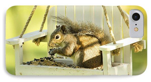 Swingin Squirrel Robber IPhone Case by Bill Tiepelman