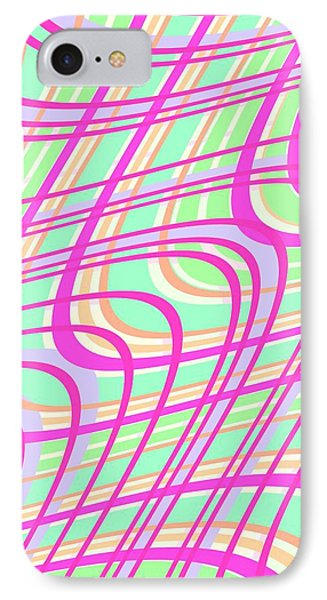 Swirly Check IPhone Case by Louisa Knight