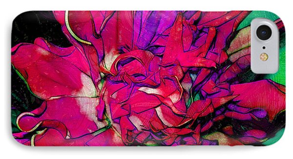 Swirly Fabric Flower Phone Case by Judi Bagwell