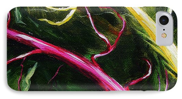 IPhone Case featuring the painting Swiss-chard by Karen  Ferrand Carroll