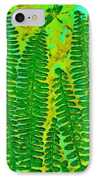 Sword Fern Fossil-green IPhone Case