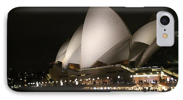 IPhone Case featuring the photograph Sydney Opera House At Night by Laurel Talabere