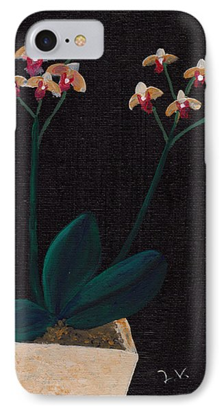 Table Orchid Phone Case by M Valeriano