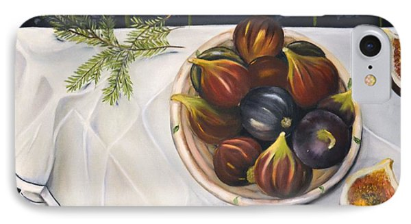 IPhone Case featuring the painting Table With Figs by Carol Sweetwood
