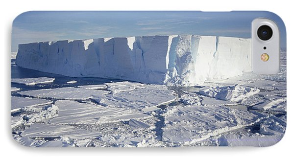 Tabular Iceberg With Broken Fast Ice IPhone Case by Tui De Roy