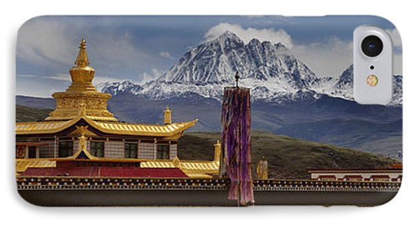 Tagong Si Monastery Buddhist Temple Phone Case by Phil Borges
