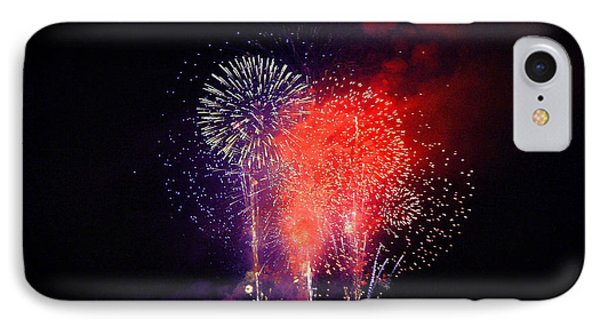 IPhone Case featuring the photograph Tahoe Fireworks. by Mitch Shindelbower