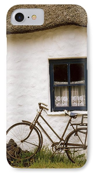 Tahtched Cottage And Bike IPhone Case by Richard Cummins