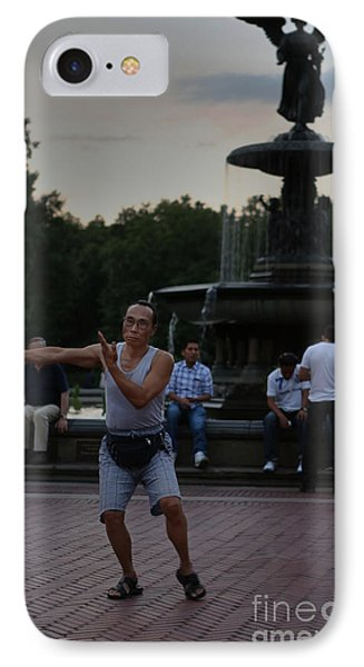 Tai Chi In The Park Phone Case by Lee Dos Santos
