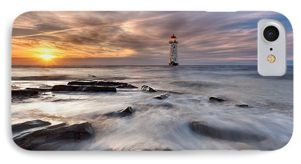 Talacre Lighthouse  IPhone Case by Beverly Cash