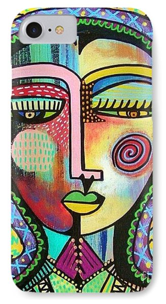 -talavera Virgin Of Guadalupe Protection IPhone Case by Sandra Silberzweig