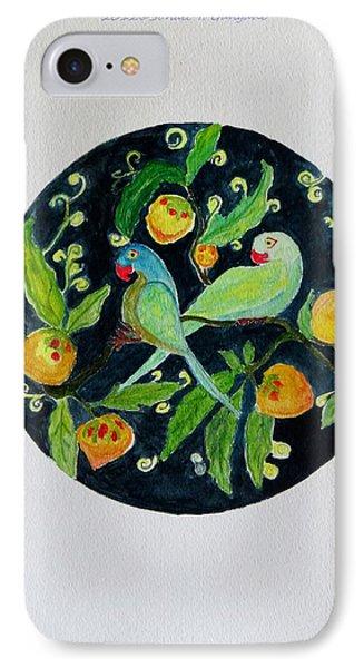 Talkative Parakeets Phone Case by Sonali Gangane