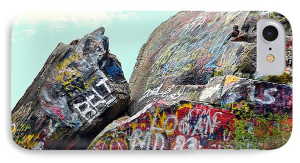 Talking Rocks And Sky Phone Case by Susan Leggett