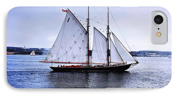 Tall Ship Sail By  IPhone Case by Elaine Manley